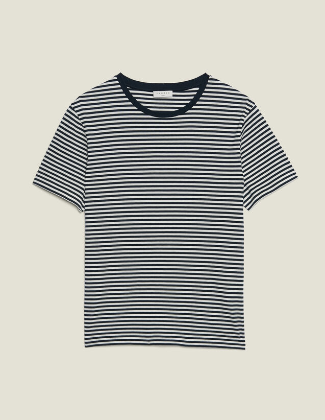 Breton T-Shirt : T-shirts & Polo shirts color Navy/White