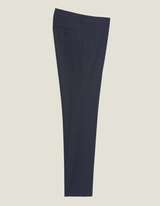 Cotton Suit Trousers : Suits & Tuxedos color Ink