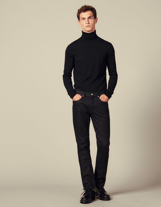 Raw Slim-Fit Jeans : Jeans color Black