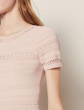 Mid-Length Knit Dress : Dresses color Pink