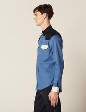Colourblock Western-Style Shirt : Sélection Last Chance color Blue