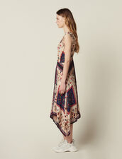 Flowing Printed Sleeveless Dress : Dresses color Multi-Color