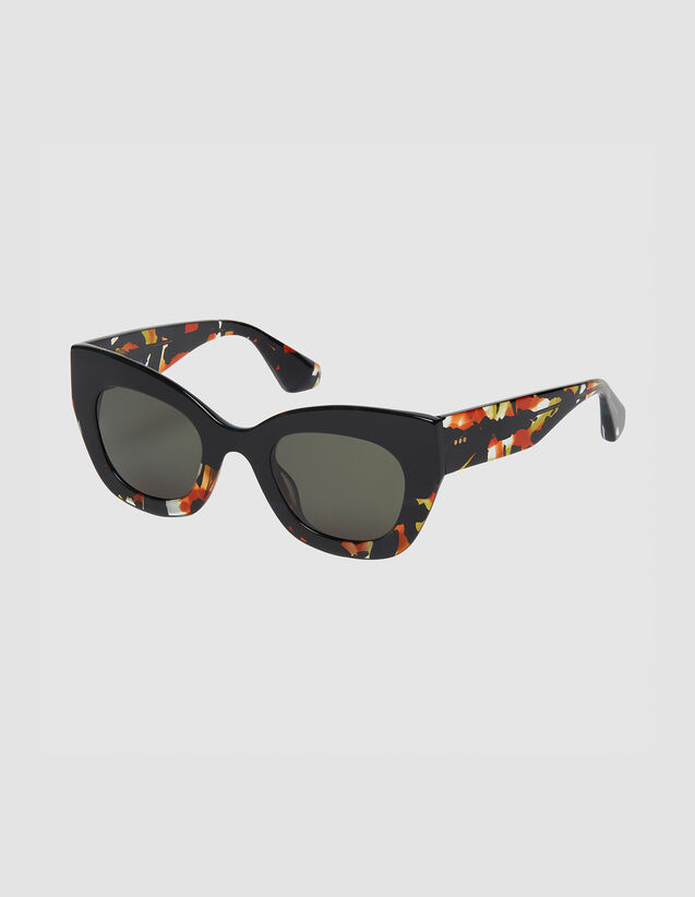 Oversized sunglasses : All Winter collection color Noir/Ecaille