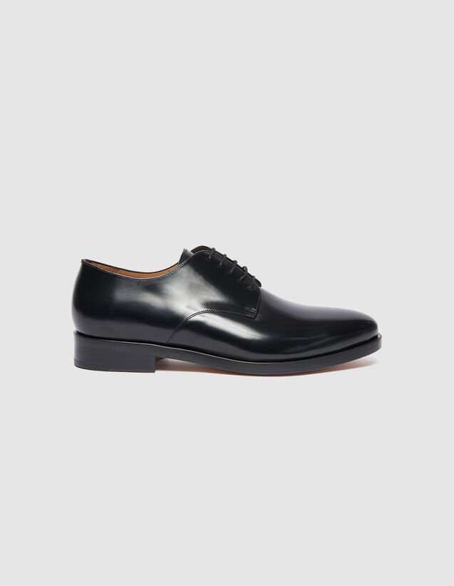 Leather Derby Shoes : Shoes color Black