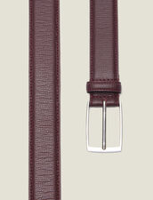 Grained Leather Belt : All Winter collection color Brown