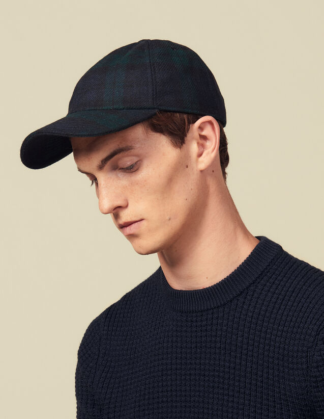 Tartan Cap : Caps color Dark green