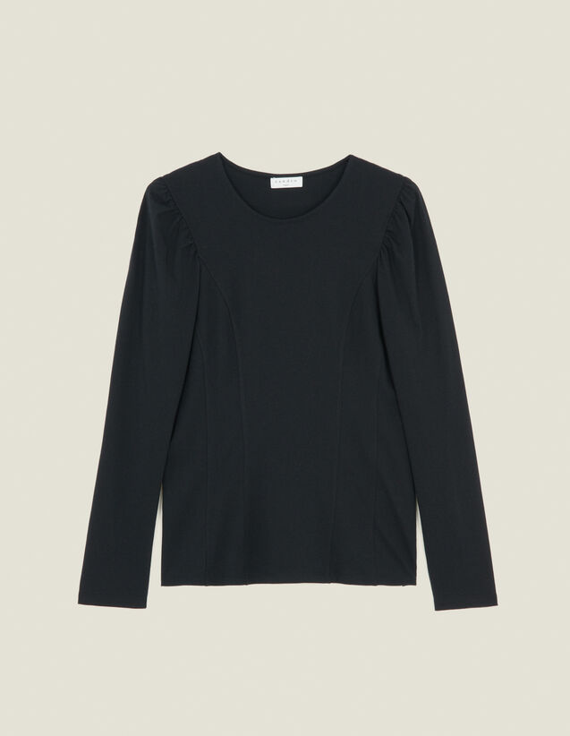 Jersey T-Shirt With Cut-Outs : T-shirts color Black