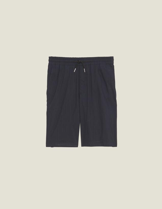 Drawstring Waist Bermuda Shorts : Pants & Shorts color Navy Blue