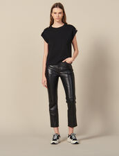 Loose-fit T-shirt with tabs : T-shirts color Black