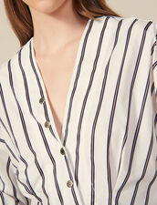 Striped Poplin Fitted Shirt : FBlackFriday-FR-FSelection-30 color white