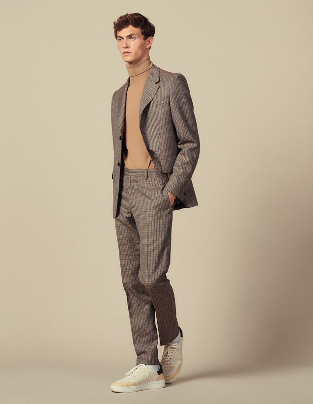 Houndstooth Suit Trousers : Suits & Tuxedos color Camel