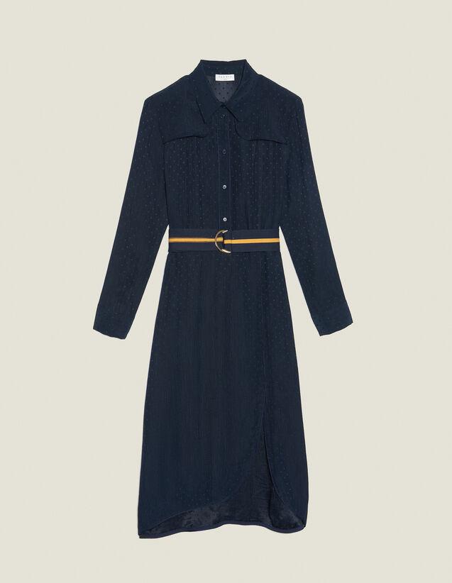 Long Shirt Dress : null color Navy Blue