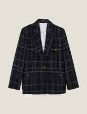 Tweed tailored jacket : Blazers & Jackets color Black