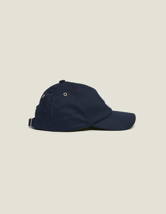 Cap With S Patch : Summer suitcase color Navy Blue