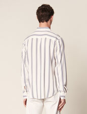 Long-Sleeved Striped Shirt : Summer Collection color Ecru