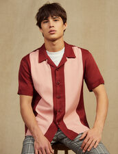 Floaty Short-Sleeved Shirt : Shirts color Bordeaux