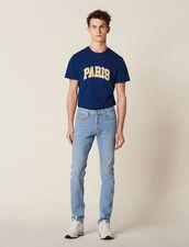 Faded Jeans With A Narrow Cut : Sélection Last Chance color Blue Vintage - Denim
