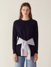 Wool And Cashmere Sweater : null color Navy Blue