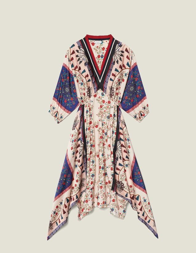 c7207a1abf Printed asymmetric dress with braid trim   Dresses color Multi-Color