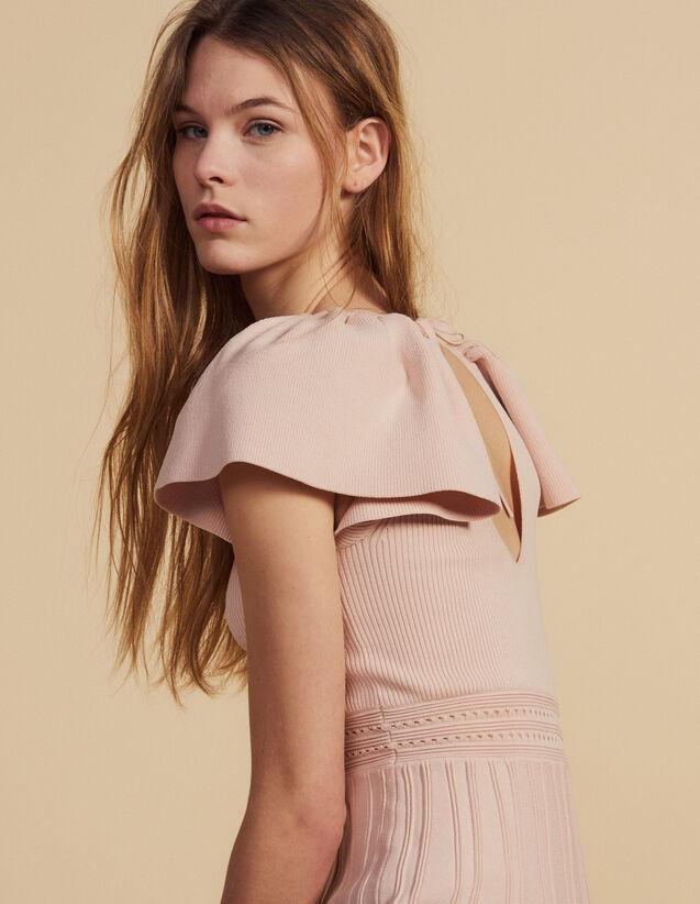 Short Knit Dress : Dresses color Powder