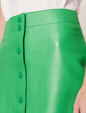 Neon Leather Skirt : null color Green