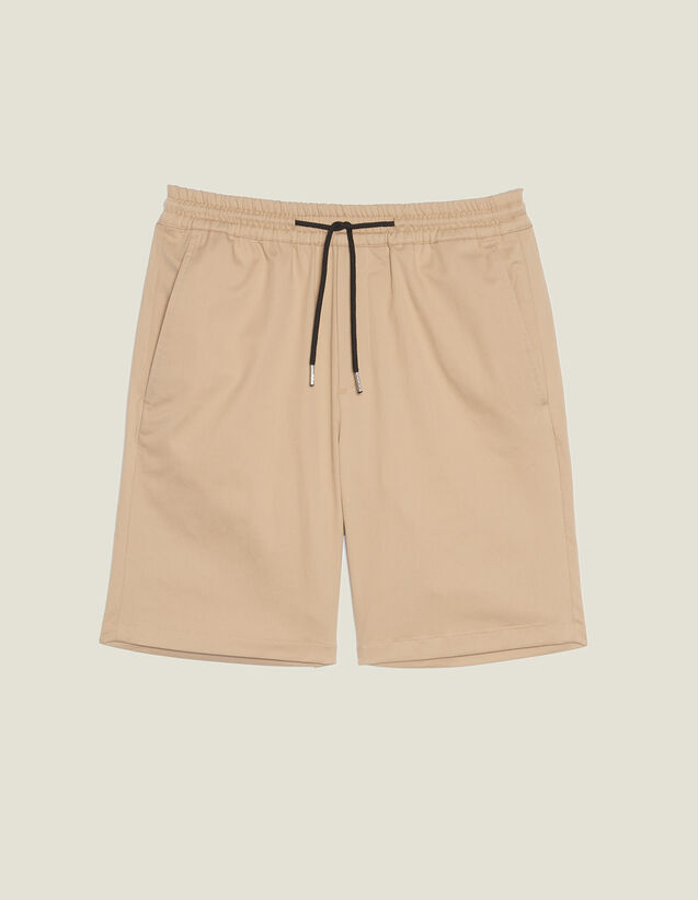Drawstring Waist Bermuda Shorts : Pants & Shorts color Beige
