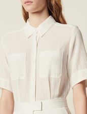 Playsuit With 2-In-1 Effect : null color Ecru