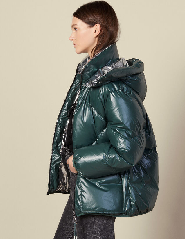 Reversible Padded Jacket : Coats color Bottle Green