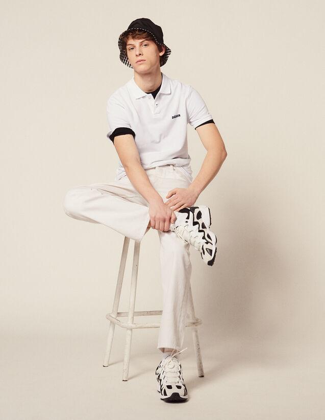 Cotton Piqué Polo Shirt : Sélection Last Chance color white