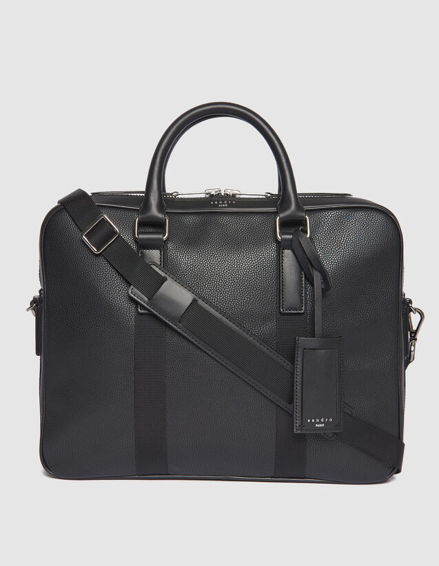 Small Briefcase With Contrasting Handles : Summer Collection color Black