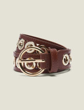 Belt With Eyelets : Summer Collection color Camel