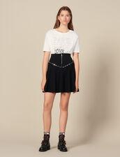 Flared Knit Skirt With Zip : LastChance-ES-F40 color Black