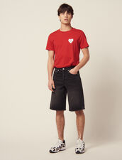 Denim Bermuda Shorts : Pants & Shorts color Black