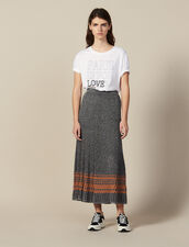 Lurex Knit Midi Skirt : Skirts & Shorts color Silver