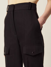Cargo Trousers : null color Black