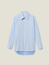 Asymmetric Shirt With Pleated Inset : FBlackFriday-FR-FSelection-30 color Blue sky