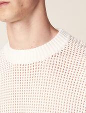Openwork Knit Sweater : SOLDES-CH-HSelection-PAP&ACCESS-2DEM color Ecru