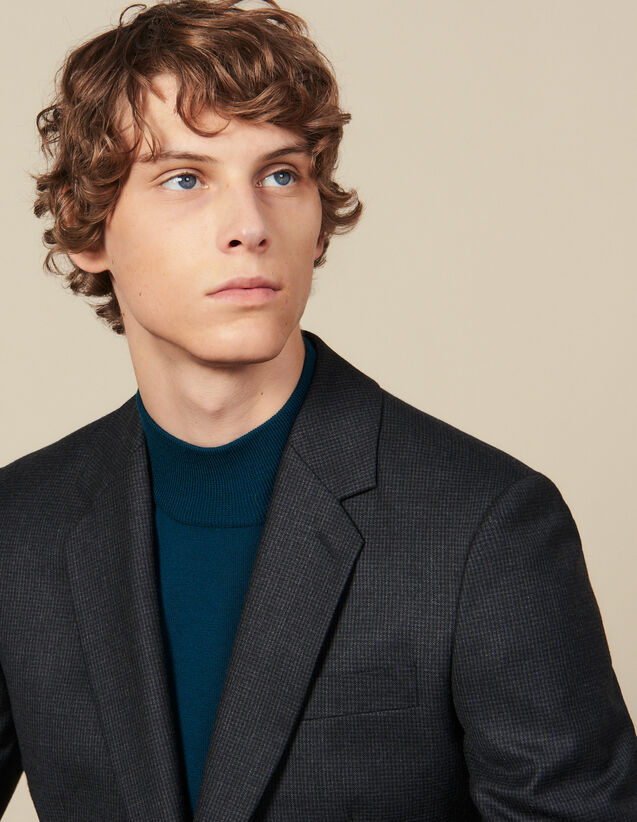 Wool Suit Jacket : Suits & Tuxedos color Charcoal Grey