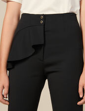 Tapered trousers with peplum : LastChance-ES-F50 color Black