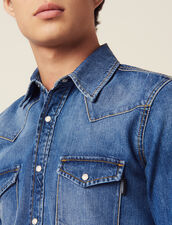 Faded Denim Shirt : Shirts color Blue Vintage - Denim