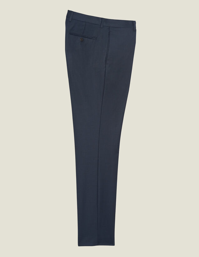 Wool Suit Trousers : Suits & Tuxedos color Pétrol Blue