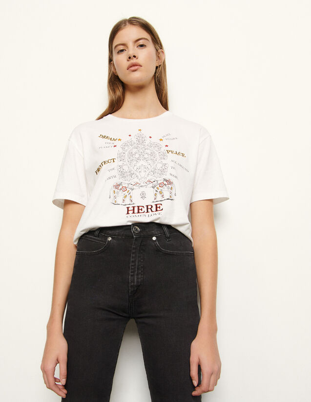 T-shirt with motifs : T-shirts color white