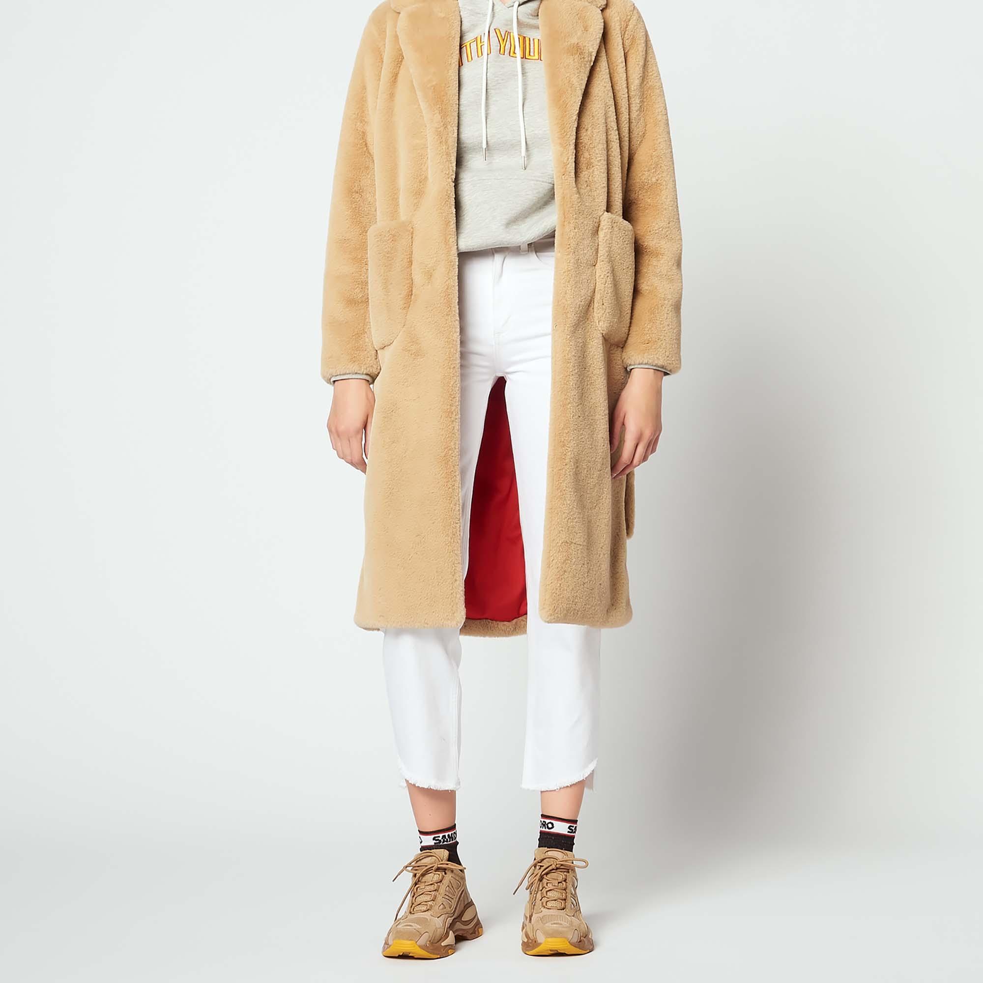ab8f6689cdf7 Long faux fur coat   null color Beige ...