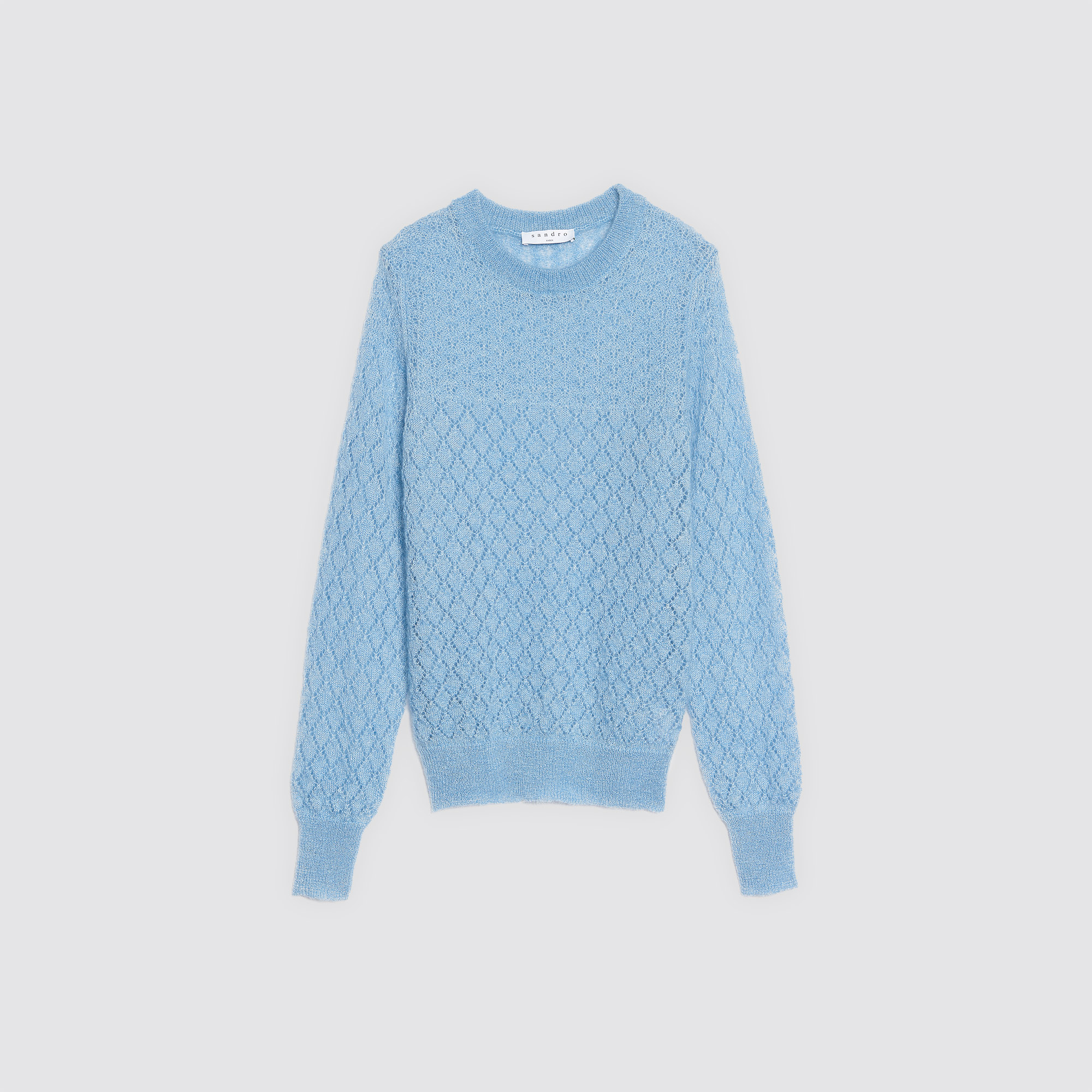 Decorative knit mohair and silk sweater - Sweaters & Cardigans ...