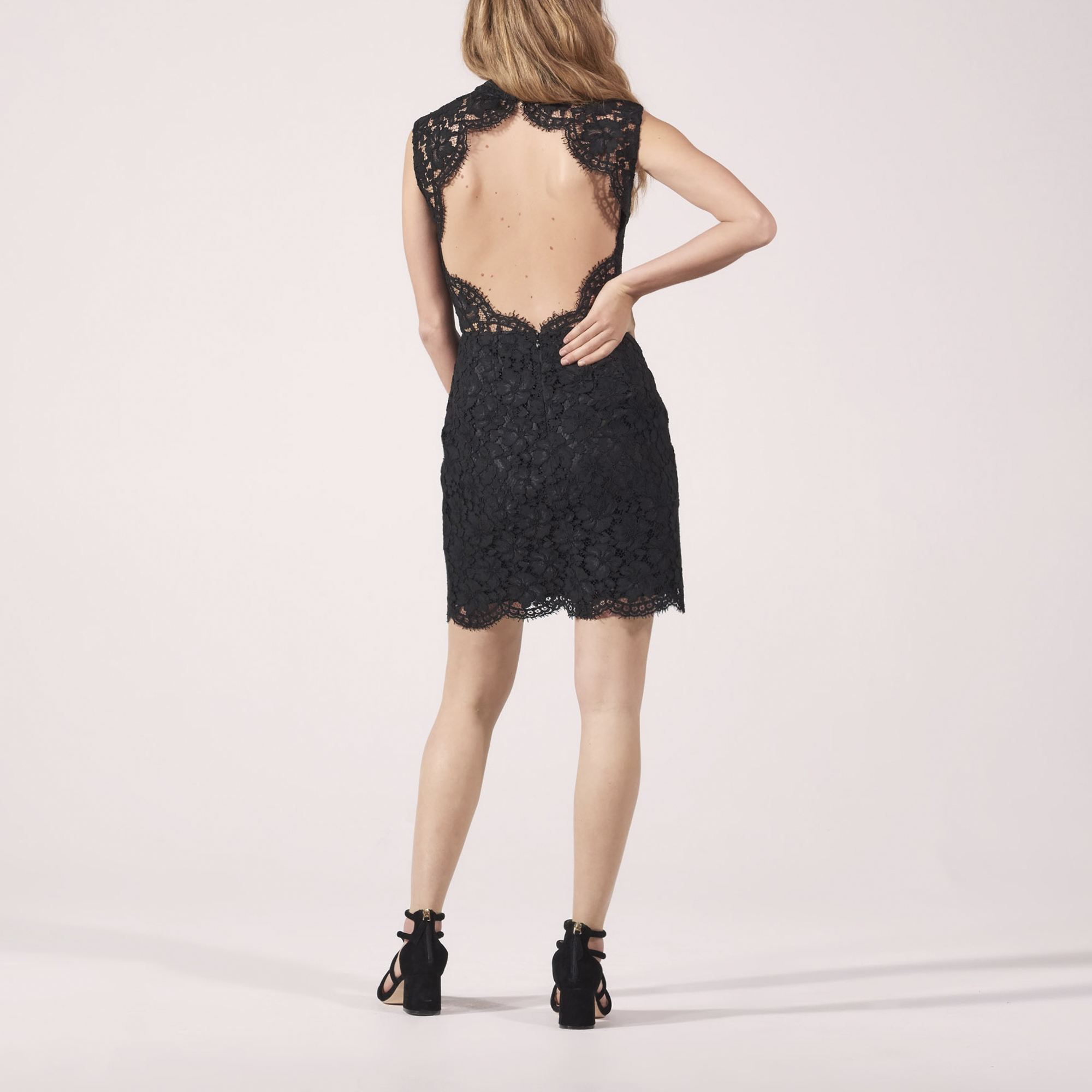 Short Lace Backless Dress - All selection - Sandro-paris.com