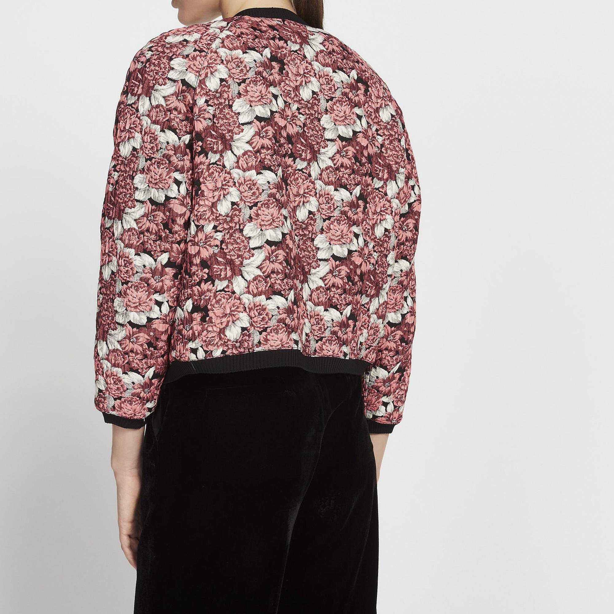 floral print bomber jacket nos produits sandro. Black Bedroom Furniture Sets. Home Design Ideas