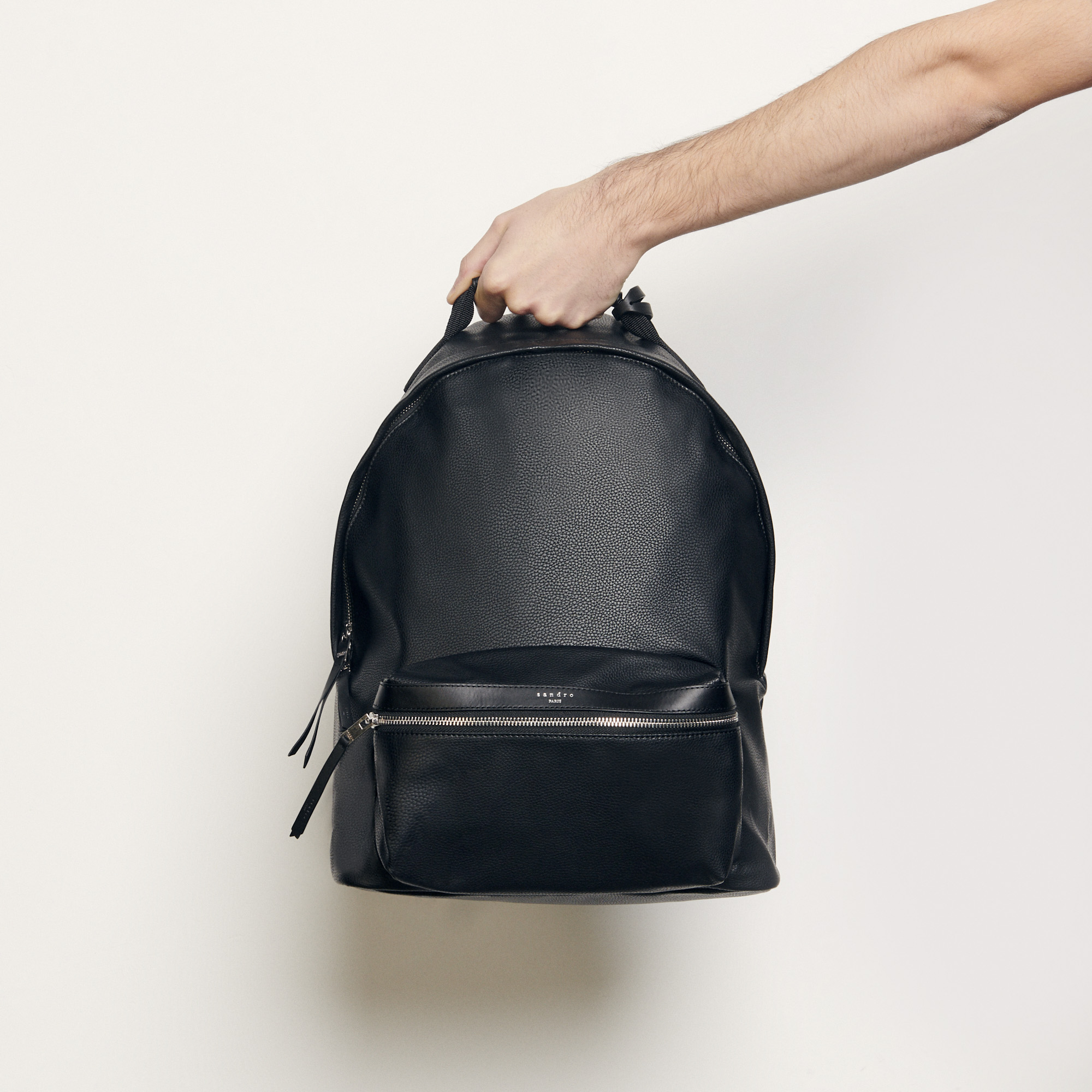 Coated canvas backpack - Sandro - Modalova