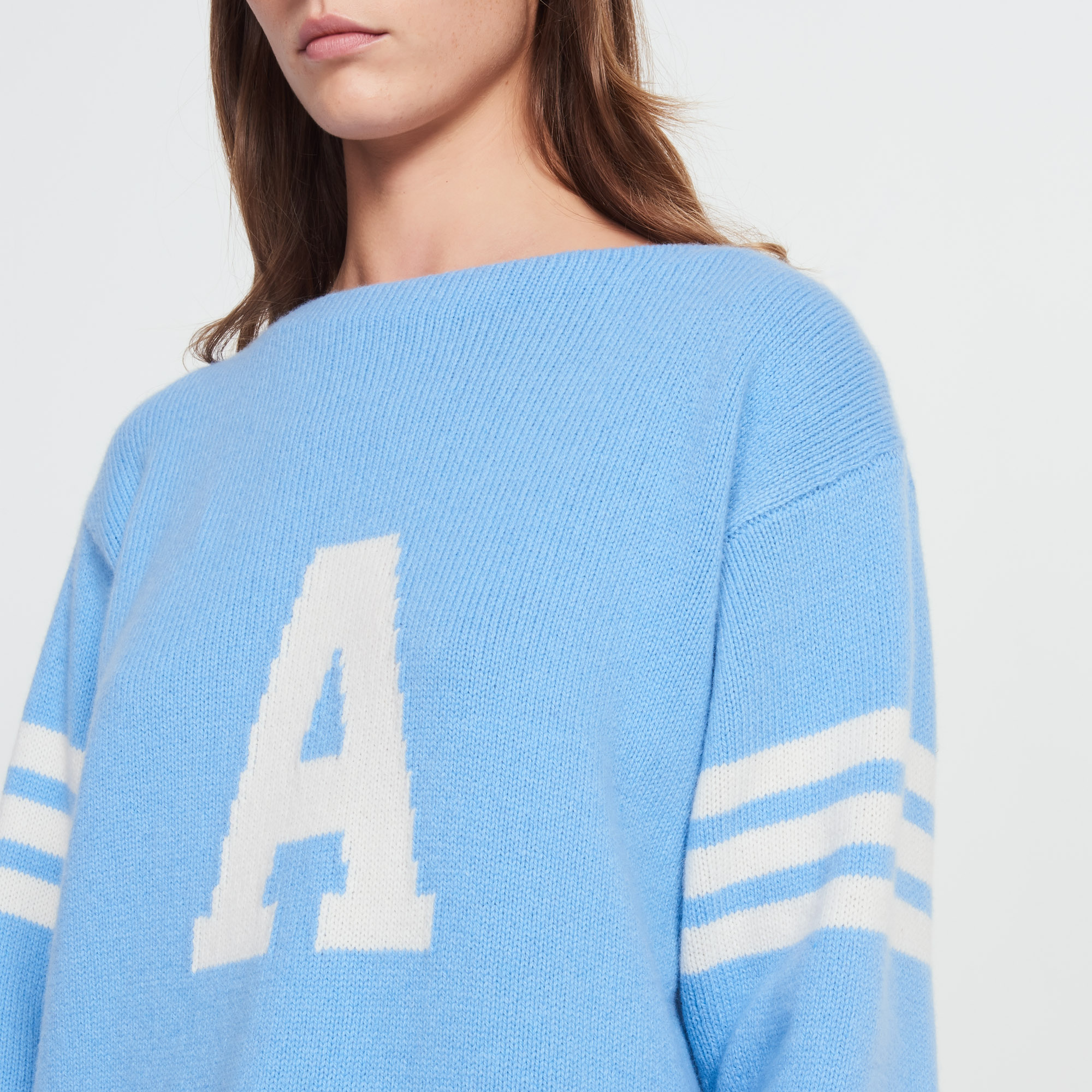 Wool and cashmere sweater with letter - Sweaters & Cardigans ...