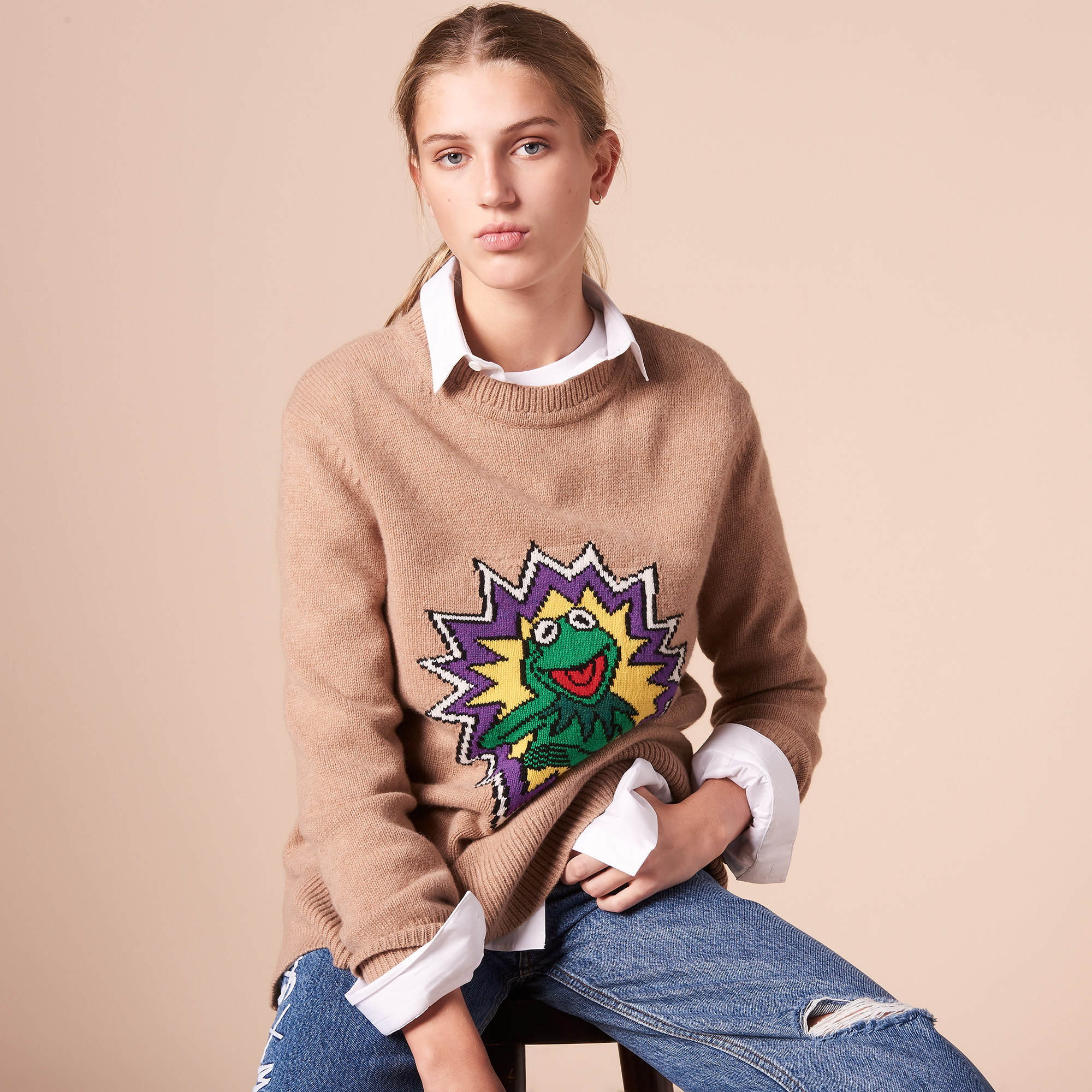 Sandro X The Muppet Show Sweater S2713H Camel -