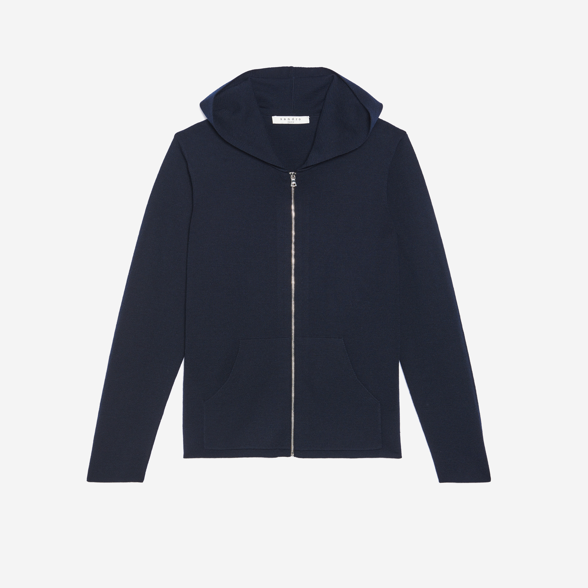 Merino wool hooded cardigan - All selection - Sandro-paris.com